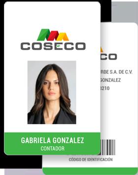 Credencial Empresarial con Código de Barras